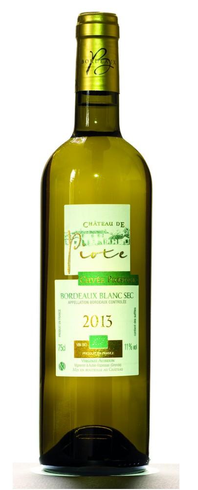 Bordeaux Château de Piote Prestige Blanc Biodynamie